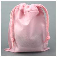 두꺼운 부직포 복주머니 핑크 60g -100장