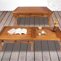 나무한 확장형 좌식테이블 다용도원목쇼파테이블 거실탁자 접이식거실테이블 대형교자상