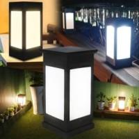 태양광 카페등 태양열 정원등 문주등 데크 무드등 사각 LED 야외 테라스 각관 조명 기둥
