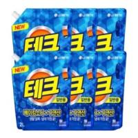 [엘지생활건강]테크 액체세제 리필 2Lx6개