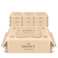 브라운 물티슈 오리지널 플러스 캡형 80매 10팩/5팩 구성