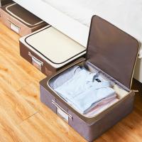 침대 밑 수납함 리빙박스 이불 옷 부직포 정리함 언더베드 옷정리노하우