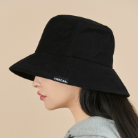 [바잘 벙거지 모자] 와이드 브림 워싱 버킷햇 블랙