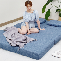 3단 접이식 매트리스 바닥 침대 메모리폼 수면 토퍼매트 싱글 1인용