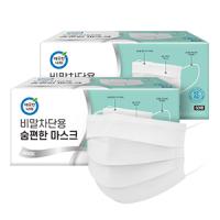 [깨끗한나라] 숨편한 마스크 비말차단 덴탈형 KF-AD 50매 X 2팩 (총 100매)