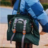 2웨이미니백 카키그레이 여행보조 캐리어보조가방