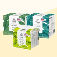 29Days 유기농생리대 순면감촉 팬티라이너 오버나이트 중형 대형 두달세트