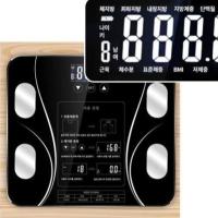 디지털 인바디 체중계 스마트 체성분 몸무게 측정기 체지방 근육량 BMI 내장지방 등 확인