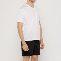 30수 무지 반팔 티셔츠 기본 브이넥 면티 (남녀공용, 화이트, 블랙, 멜란지)