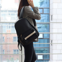로디나트 케이스 백팩 올블랙, 20대 30대 40대 직장인 비즈니스 대학생 14인치 노트북