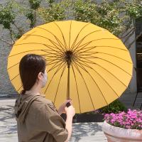 장마도예쁘게 24살대 튼튼한 자동 장우산 / 강철우산