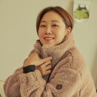 [코오롱스포츠] 여성 하이넥 변형핏 플리스재킷