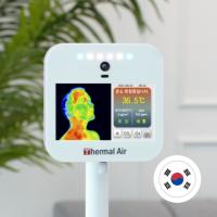 순수국산 안면인식 적외선 체온계 +공기질 측정