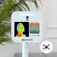 순수국산 안면인식 열화상 카메라+ 공기질 측정