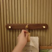 월넛 벽걸이 마스크걸이대 모자 열쇠 현관 후크