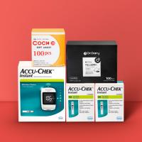 아큐첵 인스턴트 혈당측정기 풀세트(시험지100매+호환침 110매+알콜솜 100매)