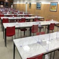 투명 코로나 4인용 가림막 칸막이비말차단 식당