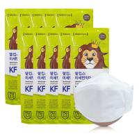 웰킵스 KF80 비말차단 미세먼지 일회용 마스크 대형 화이트 10매입