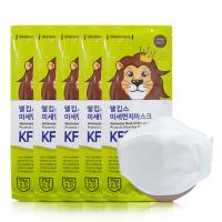 웰킵스 KF80 비말차단 미세먼지 일회용 마스크 대형 화이트 5매입