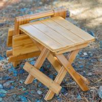 캠핑 체어 원목 차박 캠핑용 간이 비비큐 의자