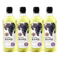 [CJ제일제당] [백설] 포도씨유 0.9L 4개