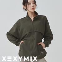 젝시믹스 여성 바람막이자켓 카키