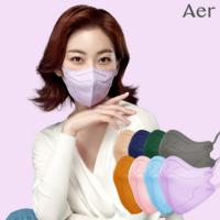 [30개입] 아에르 프로 마스크 국산 일회용 컬러 연예인 패션 귀안아픈 숨쉬기편한 새부리
